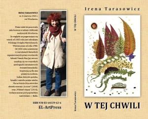 """Okładka tomiku""""W TEJ CHWILI"""". Projekt okładki: Elżbieta Kołodziejczyk"""